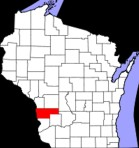 Map showing Vernon County in Southwest Wisconsin
